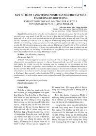 Bản đồ hành lang tường minh: Bản đồ cho bài toán tìm đường đa đối tượng - Trần Nhật Hoàng Anh
