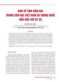 Bàn về tính hiện đại trong văn học Việt Nam và Trung Quốc nửa đầu thế kỷ XX - Nguyễn Ngọc Minh