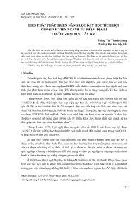 Biện pháp phát triển năng lực dạy học tích hợp cho sinh viên ngành sư phạm Địa lí trường Đại học Tây Bắc - Hoàng Thị Thanh Giang