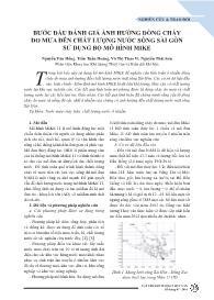 Bước đầu đánh giá ảnh hưởng dòng chảy do mưa đến chất lượng nước sông Sài Gòn sử dụng bộ mô hình mike - Nguyễn Văn Hồng