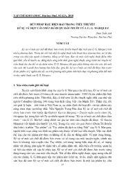 Bút pháp hậu hiện đại trong tiểu thuyết ký sự về một cái chết đã được báo trước của G. G. Marquez - Phan Tuấn Anh