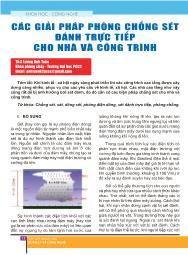 Các giải pháp phòng chống sét đánh trực tiếp cho nhà và công trình - Lương Anh Tuấn
