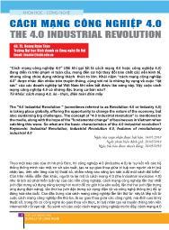 Cách mạng công nghiệp 4.0 - Hoàng Xuân Thảo