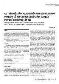 Cải thiện hiệu năng mạng chuyển mạch gói toàn quang đa chặng sử dụng phương pháp xử lý mào đầu điều chế vị trí xung sửa đổi - Cao Hồng Sơn