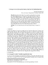 Cảm quan về con người trong thơ Nguyễn Bình Phương - Nguyễn Thị Diễm My