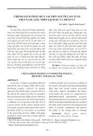 Chính sách phát huy vai trò người cao tuổi Việt Nam: Góc nhìn lịch sử và pháp lý - Bùi Nghĩa