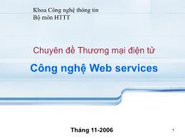Chuyên đề thương mại điện tử - Công nghệ Web service