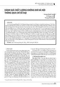 Đánh giá chất lượng không khí Hà Nội thông qua chỉ số AQI - Dương Thành Nam