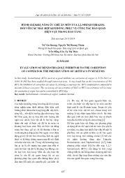 Đánh giá khả năng ức chế ăn mòn của 1,2,3-Benzotriazol đối với các mẫu hợp kim đồng, phục vụ công tác bảo quản hiện vật trong bảo tàng - Vũ Văn Dương