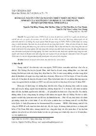 Đánh giá nguồn vốn tài nguyên thiên nhiên để phát triển sinh kế của người dân tái định cư xã Chiềng Ơn, huyện Quỳnh Nhai, tỉnh Sơn La - Nguyễn Thị Hồng Nhung