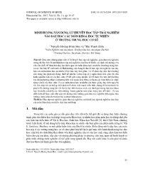 Định hướng vận dụng lí thuyết học tập trải nghiệm vào dạy học các môn khoa học tự nhiên ở trường Trung học Cơ sở - Nguyễn Hoàng Đoan Huy