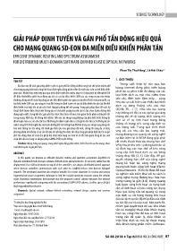Giải pháp định tuyến và gán phổ tần động hiệu quả cho mạng quang SD-Eon đa miền điều khiển phân tán - Phan Thị Thu Hằng