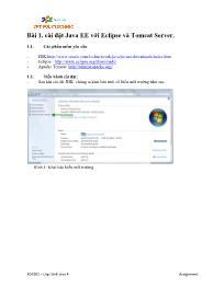 Giáo trình Lập trình Java 4 - Bài 1: Cài đặt Java EE với Eclipse và Tomcat Server - Trường Cao đẳng FPT