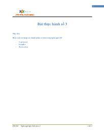 Giáo trình Lập trình Java 4 - Bài 3: Bài thực hành số 3 - Trường Cao đẳng FPT