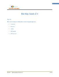 Giáo trình Lập trình Java 4 - Bài 4: Bài thực hành số 4 - Trường Cao đẳng FPT