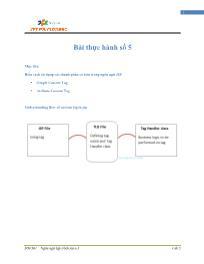 Giáo trình Lập trình Java 4 - Bài 5: Bài thực hành số 5 - Trường Cao đẳng FPT