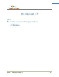 Giáo trình Lập trình Java 4 - Bài 6: Bài thực hành số 6 - Trường Cao đẳng FPT