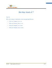Giáo trình Lập trình Java 4 - Bài 7: Bài thực hành số 7 - Trường Cao đẳng FPT
