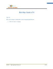 Giáo trình Lập trình Java 4 - Bài 8: Bài thực hành số 8 - Trường Cao đẳng FPT