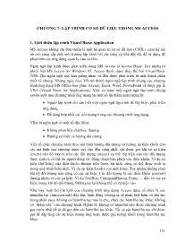 Giáo trình Nhập môn hệ quản trị Cơ sở dữ liệu (Phần 2) - Đặng Thị Thu Hiền