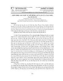 Giới thiệu sơ lược về mô hình lập luận của Toulmin - Phạm Thị Minh Hải