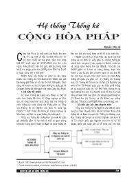 Hệ thống thống kê cộng hòa Pháp - Nguyễn Thái Hà