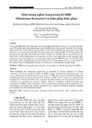 Hiện tượng nghẹt màng trong bể MBR (Membrane Bioreactor) và biện pháp khắc phục - Trương Thị Bích Hồng