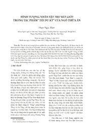 """Hình tượng nhân vật Trư Bát Giới trong tác phẩm """"Tây du ký"""" của Ngô Thừa Ân - Phạm Ngọc Hàm"""