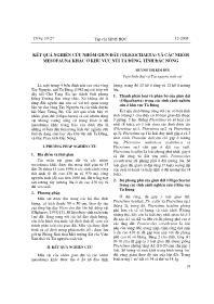 Kết quả nghiên cứu nhóm giun đất (oligochaeta) và các nhóm mesofauna khác ở khu vực núi Tà Đùng, tỉnh Đắc Nông - Huỳnh Thị Kim Hối
