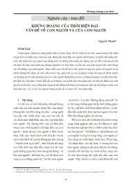 Khủng hoảng của thời hiện đại - Vấn đề về con người và của con người - Nguyễn Thanh