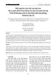 Một nghiên cứu tiếp cận dạy học theo quan điểm hoạt động vào dạy học giải bài tập (Chủ đề khoảng cách từ một điểm đến mặt phẳng, Hình học Lớp 11) - Hoa Ánh Tường