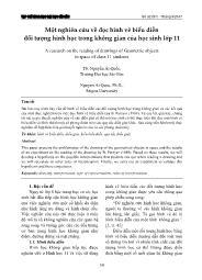 Một nghiên cứu về đọc hình vẽ biểu diễn đối tượng hình học trong không gian của học sinh Lớp 11 - Nguyễn Ái Quốc