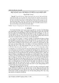 Một số kết quả mở rộng về phân loại S-Hộp 4 bit - Nguyễn Bùi Cương