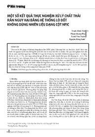 Một số kết quả thực nghiệm xử lý chất thải rắn nguy hại bằng hệ thống lò đốt không dùng nhiên liệu dạng cột NFIC - Trịnh Minh Việt