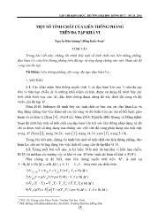 Một số tính chất của liên thông phẳng trên đa tạp khả vi - Nguyễn Hữu Quang