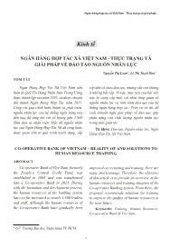Ngân hàng hợp tác xã Việt Nam - Thực trạng và giải pháp về đào tạo nguồn nhân lực - Nguyễn Thị Loan