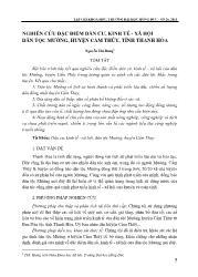 Nghiên cứu đặc điểm dân cư, kinh tế - Xã hội dân tộc Mường, huyện Cẩm Thủy, tỉnh Thanh Hóa - Nguyễn Thị Dung