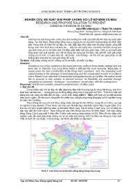 Nghiên cứu, đề xuất giải pháp chống xói lở bờ biển Cà Mau - Nguyễn Văn Ngọc