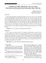 Nghiên cứu điều chế hệ xúc tác Ni-Ce/Al2O3 ứng dụng trong phản ứng phân hủy trực tiếp NOx - Lê Phúc Nguyên