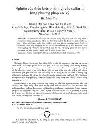 Nghiên cứu điều kiện phân tích các sulfamit bằng phương pháp sắc ký - Bùi Minh Thái