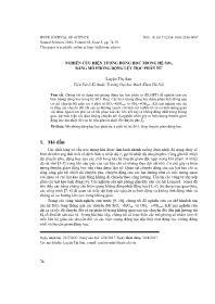 Nghiên cứu hiện tượng động học trong hệ SiO2 bằng mô phỏng động lực học phân tử - Luyện Thị Sâm