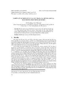Nghiên cứu sự khuếch tán vacancy trong ZrO2 bền hóa bởi Y2O3 bằng phƣơng pháp thống kê momen - Vũ Văn Hùng