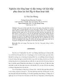 Nghiên cứu tổng hợp và đặc trưng vật liệu hấp phụ chọn lọc hơi Hg từ than hoạt tính - Lê Thị Cẩm Nhung