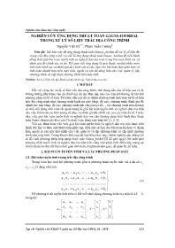 Nghiên cứu ứng dụng thuật toán Gauss-Jourdal trong xử lý số liệu trắc địa công trình - Nguyễn Việt Hà