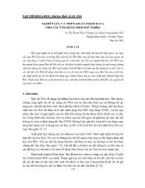 Nghiên cứu và triển khai linked data cho các ứng dụng web ngữ nghĩa - Lê Thị Thanh Tâm