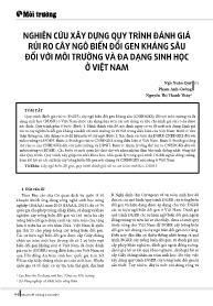 Nghiên cứu xây dựng quy trình đánh giá rủi ro cây ngô biến đổi gen kháng sâu đối với môi trường và đa dạng sinh học ở Việt Nam - Ngô Xuân Quý