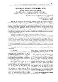 Nhận dạng hệ thống phi tuyến mimo sử dụng mạng Nơ-Ron RBF - Phạm Thanh Tùng