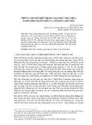 Những chuyển biến trong giáo dục nhà chùa ở Miến Điện dưới thời vua Mindon (1853-1878) - Lê Thị Quí Đức