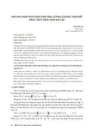 Phương pháp dưới đạo hàm tăng cường giải bài toán bất đẳng thức biến phân hai cấp - Hồ Phi Tứ