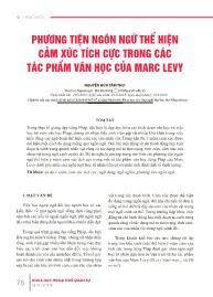 Phương tiện ngôn ngữ thể hiện cảm xúc tích cực trong các tác phẩm văn học của Marc Levy - Nguyễn Hữu Tâm Thu